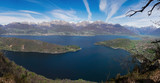 Panoramic picture of Lake Como seen from the mountain above Piona - 229361053