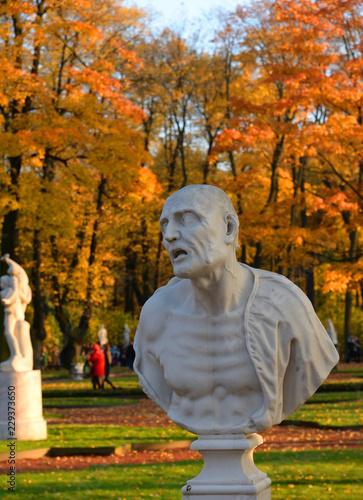 Statue of ancient Roman philosopher Seneca.