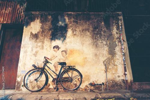 Street art in Georgetown, Penang, Malaysia - 229379491