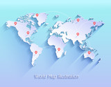 World map vector illustration.