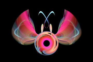 abstract flying fractal insects