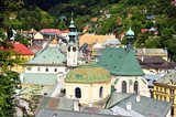Domes and roofs of Banks Stiavnica town