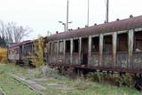 Old train wagon, abandoned, rusty, Krakow, Plaszow