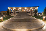 Night lightening of luxury mansion exterior - 229423263