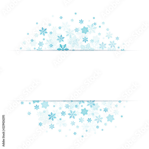 Blue Snowflakes Banner