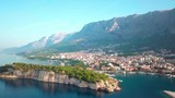 Croatian Adriatic coast with drone in 4K. Europe. Makarska - 229431082
