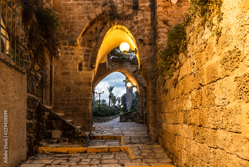 The ancient city of Jaffa in the evening, Tel Aviv, Israel
