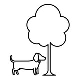 dog and tree design