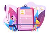 Employee assessment concept vector illustration.