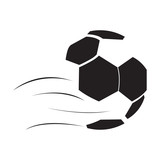 Silhouette of a soccer ball. Vector illustration design