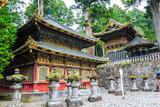 Nikko Toshogu Shrine temple in Nikko at autumn. - 229487089