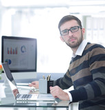 businessman working with financial charts - 229496664