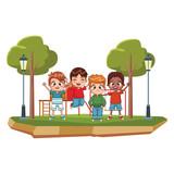 Happy kids at park
