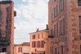 Gordes, Provence-Alpes-Cote d'Azur, France, September 25, 2018: View of the city streets