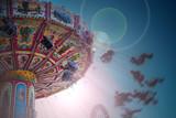 Karussell auf dem Volksfest  - 229545081