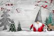 Leinwanddruck Bild - Deko-Arrangement für Weihnachten und Winter