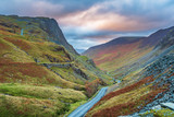 Honister Pass in the Lake District / Honister Pass is a mountain pass in the English Lake District, joining Borrowdale to the Buttermere Valley - 229549040