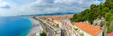 Beautiful panoramic view from above on sea and Promenade des Anglais, Nice, France - 229553663