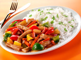 SWEET AND SOUR PORK WITH RICE - 229555421