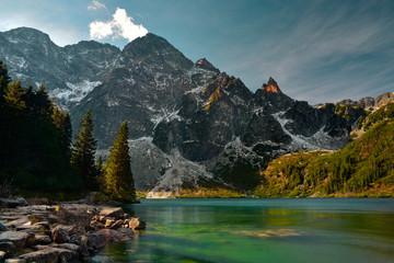 Tatra mountain in the autumn season.