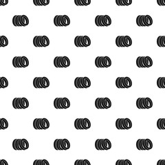 Pile of tire pattern seamless vector repeat geometric for any web design
