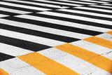 Pedestrian crossing road marking zebra - 229571036
