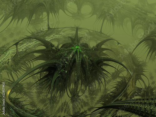 Abstract plant. 3D render - 229579431