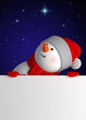 Leinwanddruck Bild - 3d render, digital illustration, happy snowman, starry night, presentation, blank page, midnight, Merry Christmas greeting card, New Year symbol, winter holiday background