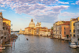 Venice Italy, city skyline at Grand Canal and Basilica di Santa Maria della Salute