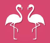 Flamingo Shape. Isolated. Vector.