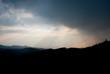 canvas print picture - Thunderstorm over the black forest / Gewitterstimmung über dem Schwarzwald