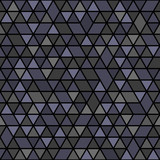 Geometric pattern with dark triangles. Geometric modern ornament. Seamless abstract background - 229602435