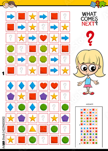 fill the pattern educational game for children - 229603002