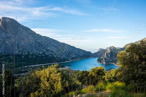 Acrylglas Pier Valldemossa, Mallorca, Reisen, Stadt, Berge, Urlaub