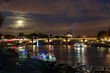 Concorde bridge over Seine river at night, Paris, France