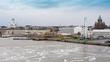 Leinwanddruck Bild - View of Helsinki from the departing ferry