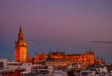Seville Cathedral at dusk, Spain