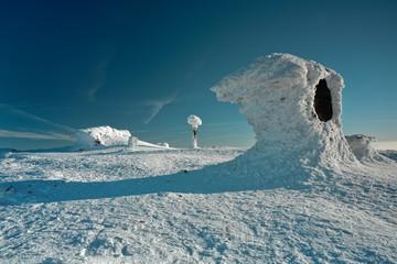 Frozen on the mountain top. Babia mountain