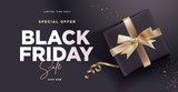 Black Friday sale banner. Social media vector illustration template for website and mobile website development, email and newsletter design, marketing material. - 229620885