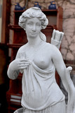 Sculptural Bust classic ancient Amazons women topless and a quiver of arrows