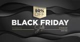 Black Friday sale banner. Social media vector illustration template for website and mobile website development, email and newsletter design, marketing material. - 229622061