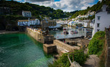 View into Polperro Harbour, Cornwalll Engalnd
