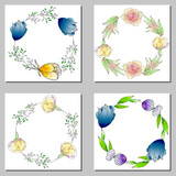 Set of flower wedding ornament concept. Art traditional,book, poster, abstract, element. For romantic and easter design, announcements, greeting cards, posters, advertisement.