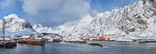 "Leinwandbild Motiv ""A"" village on Lofoten Islands, Norway"