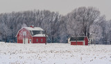 Red barn in countryside - 229651814