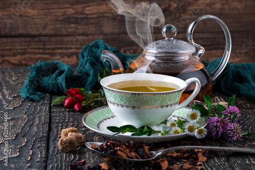Tea on the old background © Karnav