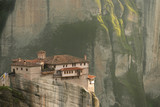 The Roussanou Monastery in Meteora Greece during Sunrise - 229665036