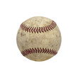 Vintage Old baseball Isolated on a White Background