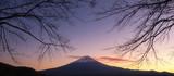 Fuji mountain at Kawaguchiko lake sunset. Mt. Fujisan is one of the landmark and symbol of Japan. - 229677896
