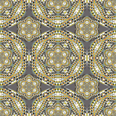 Geometric seamless pattern, modern design floral texture. Vector abstract background for textile, surface, decor design. © khaladok